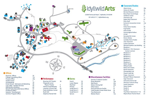 Map Thumbnail 2017 Idyllwild Arts