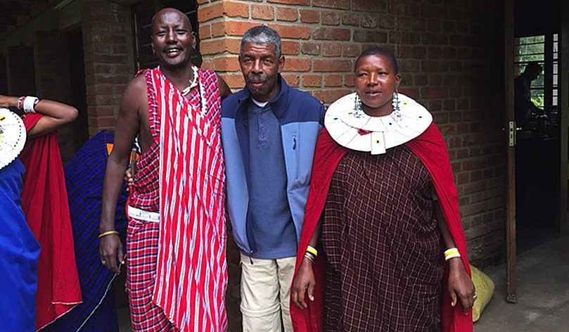 Marshall Hawkins And Maasai Friends