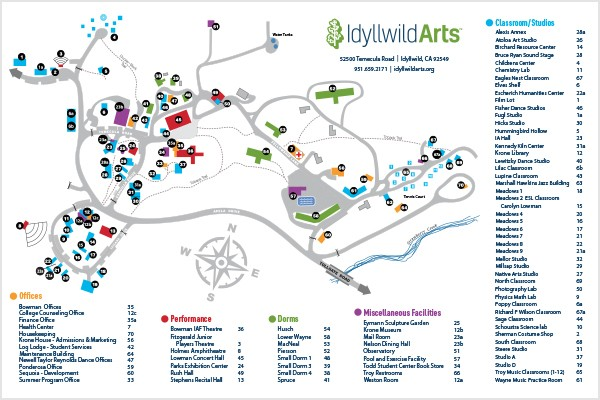 Navarro College Campus Map.Our Campus Idyllwild Arts