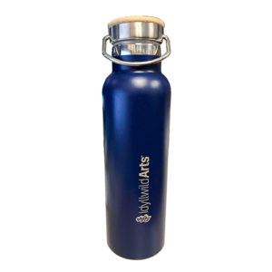 Water Bottle W/Bamboo Top