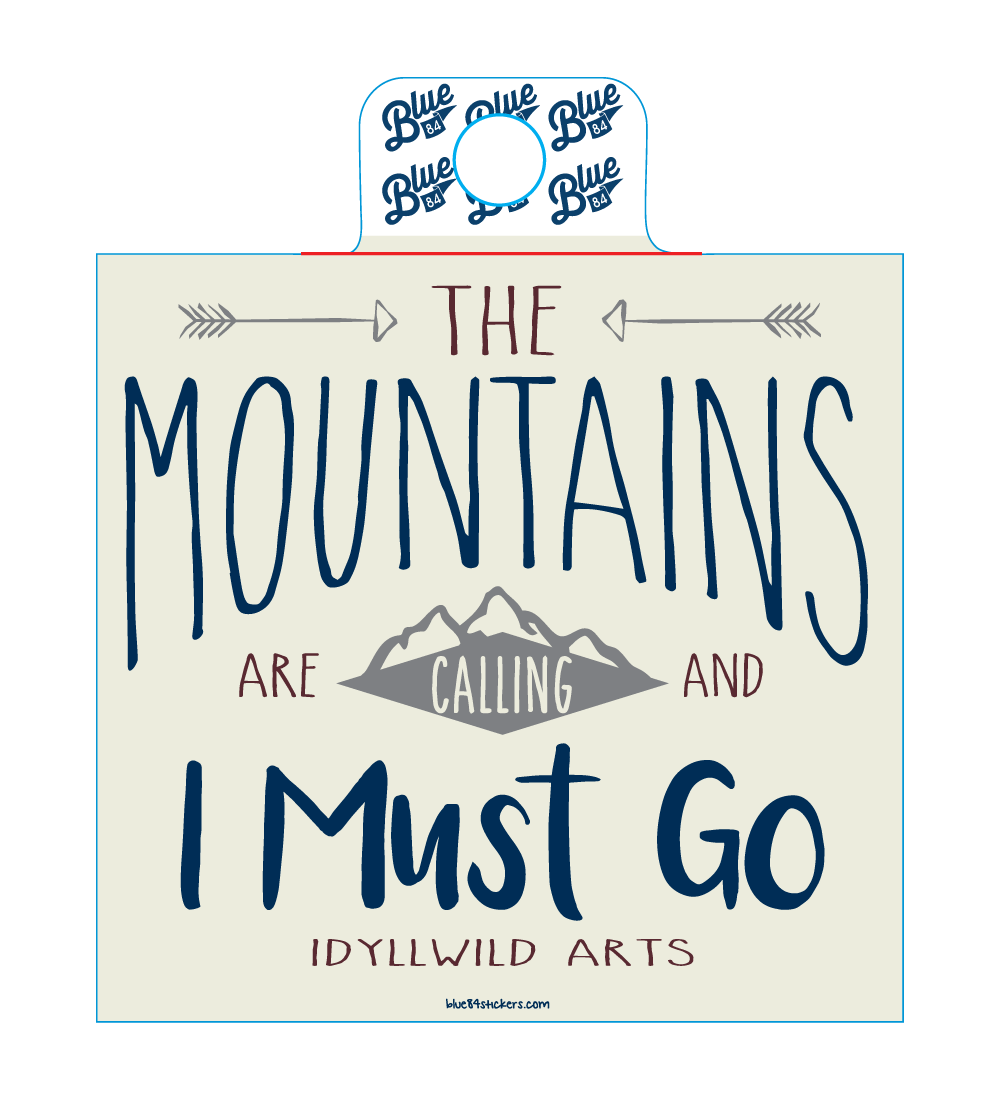 STICKER Mountians Are Calling